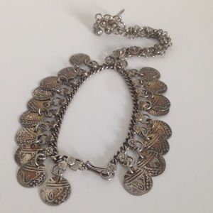 Jewelry - Vintage Hand / Slave Chain Attached Ring Bracelet